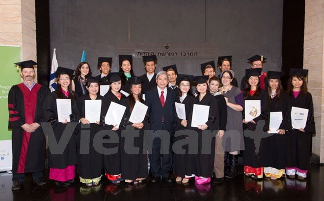 Cao Tran Quoc Hai Ambassador graduation ceremony Master Course I program for students of Agriculture Vietnam