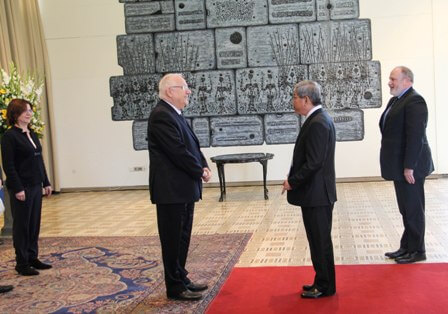 Ambassador of Vietnam in the first State Israel Cao Tran Quoc Hai presentation of credentials to the President of the State of Israel