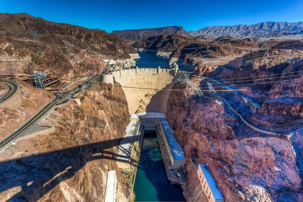 Hoover Dam nhìn từ trên cao