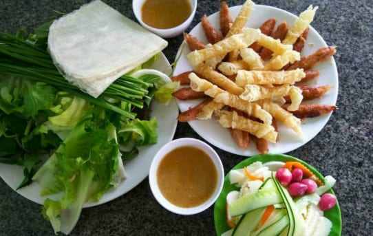 Tasting local dishes in Da Lat
